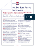 Tom Price Fact Sheet from Trump transition