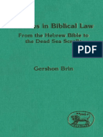 Gershon Brin Studies in Biblical Law From the Hebrew Bible to the Dead Sea Scrolls JSOT Supplement Series 1994.pdf