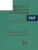 Henning Graf Reventlow, Benjamin Uffenheimer eds. Creative Biblical Exegesis Christian and Jewish Hermeneutics Throughout the Centuries JSOT Supplement 1989.pdf
