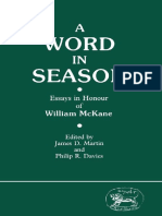 James D. Martin, Philip R. Davies eds. Word in Season Essays in Honour of William McKane Jsot Supplement Series #42  1986.pdf