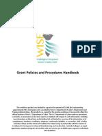 WISE Policies and Procedures 11-21-2016