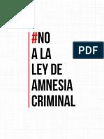 Cuaderdillo FIRMAS CONTRA Ley Amnesia (2)