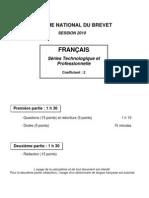 DNB Français série techno et pro 29 juin 2010