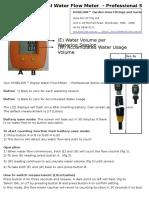 Water Flow Meter Instruction -Tk