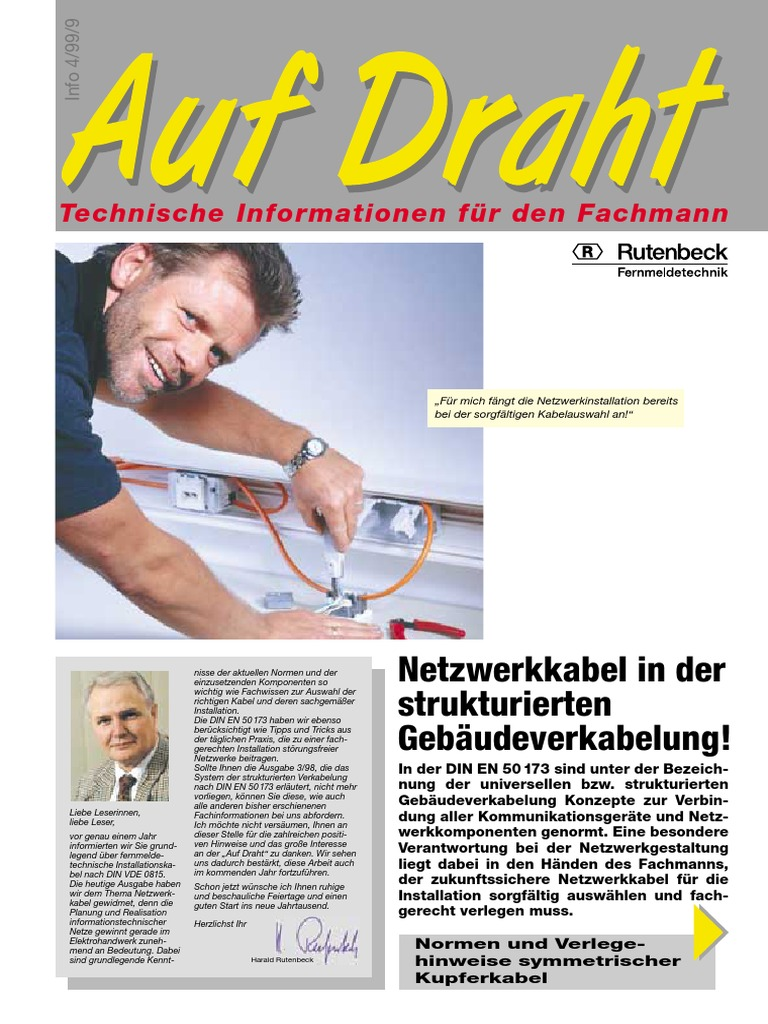 Fein Gebäudeverkabelung Installation Galerie - Der Schaltplan ...