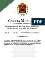 Gaceta 08 2016 - Municipio de Metepec