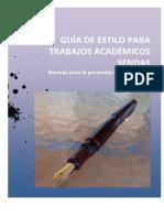 Guía de Estilo Para Trabajos Académicos SENDAS 20151 1