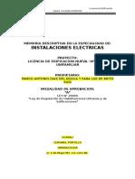 Memoria Instalaciones Electricas
