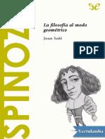 Spinoza - Joan Sole