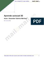 Aprende Autocad 3d 9598