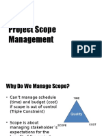 Project Scope Management Revised 1