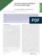 Photocatalytic Activity of Boron-Modified Titania under UV and Visible-Light Illumination