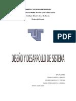 Diseño y Desarrollo de Sistema