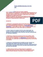 10 Decretos Para Reprogramação Do Subconsciente