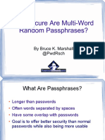 How Secure Are Multi-Word Random Passphrases