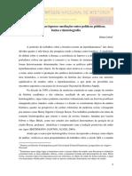 A Assistência Ao Leproso Na Primeira República Mediações Entre Políticas Públicas, Fontes e Historiografia