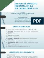Evaluacion de Impacto Ambiental en La Empresa Ladrillera Lark Diapos 1
