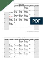 2017 Meeting Schedule