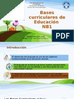 Bases Curriculares NB1 Presentación 1 1
