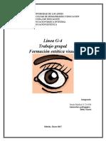 Formación Estética Visual (TRABAJO GRUPAL)