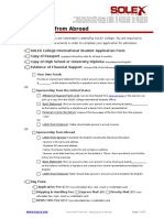 03 Document Checklist - Applying From Abroad