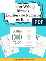 Number Writing Rhyme Bilingual Pack-Eng-Spa