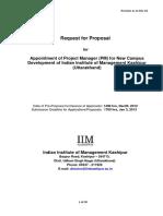 IIM Kashipur Proposal for Construction