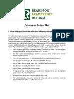 BLR Governance Reform Plan 1