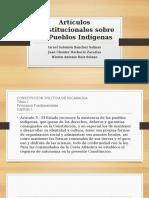 Artículos Constitucionales Sobre Los Pueblos Indígenas