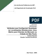 PASCALE 2005 - Atributos Que Configuram Qualidade as Localizações Residenciais