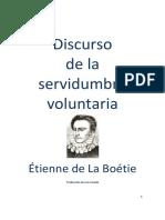 EL DISCURSO SOBRE LA SERVIDUMBRE VOLUNTARIA - ETIENNE DE LA BOETIE.pdf