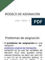 Modelo de Asignación 2016 II