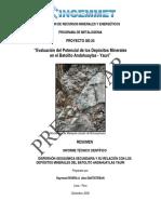 Evaluación Del Potencial de Los Depósitos Minerales en El Batolito Andahuylas - Yauri POI Rivera