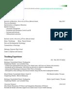 current resume 2017