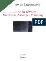 Geoffroy de Lagasnerie L'art de La Rvolte