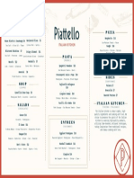 Piatello Italian Kitchen Lunch Menu Dallas Fort Worth PDF