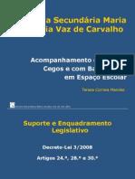 APRESENTAÇÃO_Mª Amália Vaz de Carvalho_Acompanhamento de alunos com cegueira e baixa visão em espaço escolar
