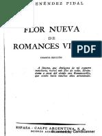 MENENDEZ - Flor Nueva de Romances Viejos