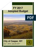 Casper's Fiscal Year 2017 budget