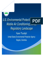 U.S. Environmental Protection Agency Mobile Air Conditioning (MAC) Regulatory Landscape