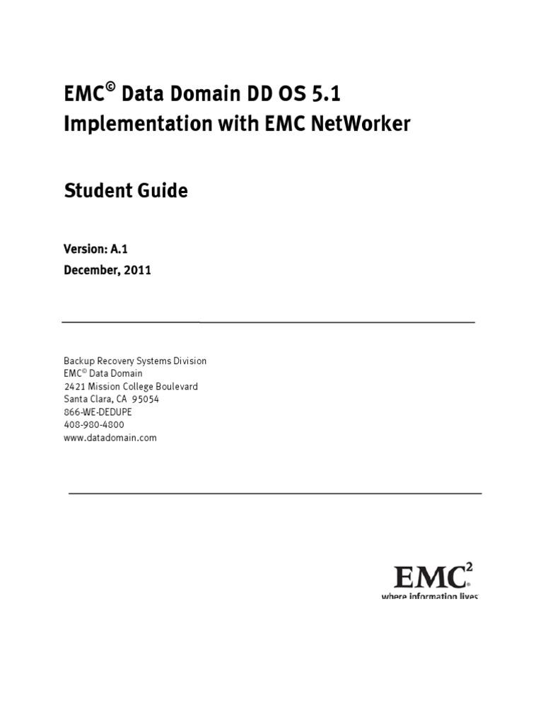 emc data domain networker implementation student guide backup rh es scribd com