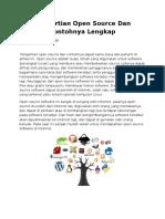 Pengertian Open Source Dan Contohnya Lengkap