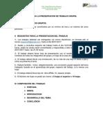 Guía Para La Presentacion de Trabajo Grupal