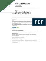 Etudescaribeennes 390 5 Memoire Mediatiation et construction des Identites