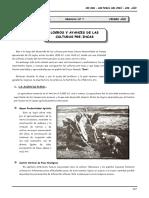 1ero. Año - HP - Guía Nº 7 - Logros y Avances -Culturas Pre