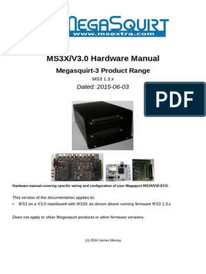 MS3XV30 Hardware 1 3 | Ignition System | Electrical Connector