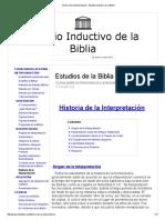 Historia de La Interpretación - Estudio Inductivo de La Biblia