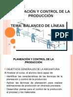 Planeación Producción y Control Estadístico de Procesos