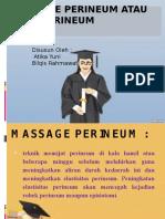 Massage Perineum Atau Pijat Perineum