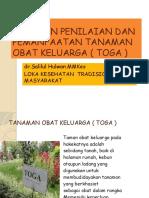 PEDOMAN PENILAIAN DAN PEMANFAATAN TANAMAN OBAT KELUARGA (.pptx